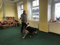 Vystoupení se psem v mateřské škole